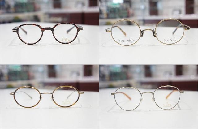 丸メガネ4つの形