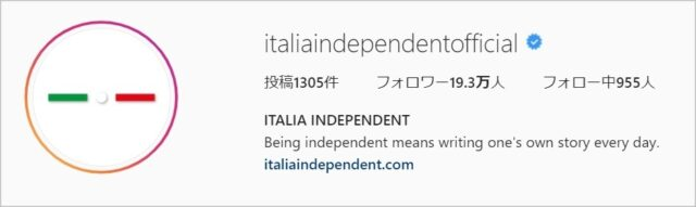 イタリアンインディペンデントのインスタグラム