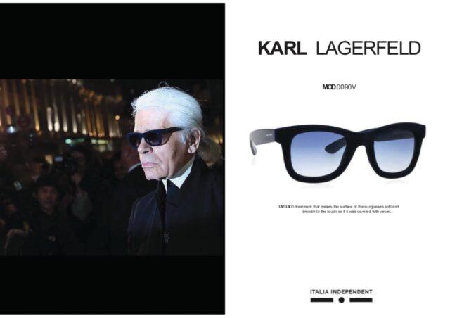 カール・ラガーフェルドのサングラス
