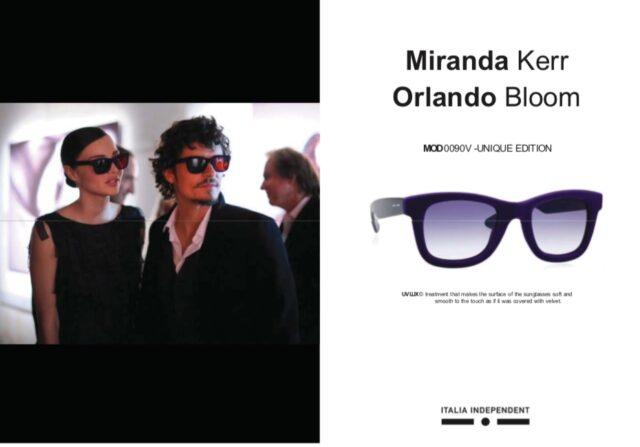 ミランダカーとオーランド・ブルームのサングラス