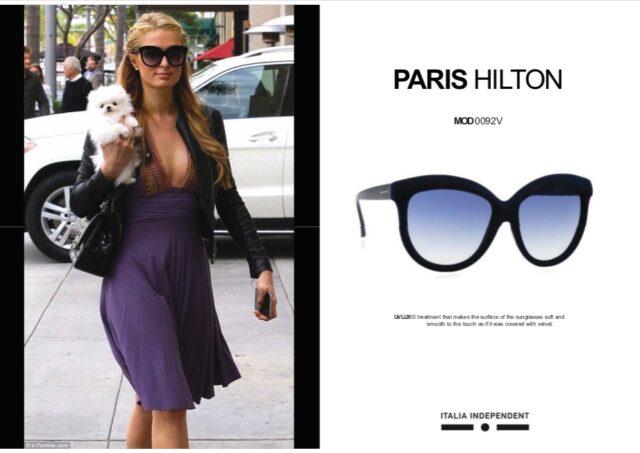 パリス・ヒルトンのサングラス